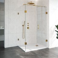 Douchecabine Compleet Just Creating Profielloos 3-Delig 90x120 cm Goud