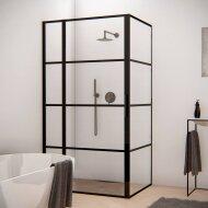 BWS Douchecabine Frame 80x120 cm 8 mm NANO Glas Mat Zwart Raster