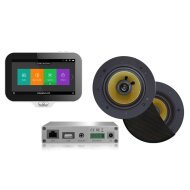 Music Center Aquasound N-Joy Controller (IPX7) + Wand Lader + Rumba Speakerset + Wifi-Audio Versterker 30 Watt Zwart