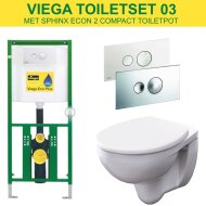 Viega EcoPlus Toiletset Set03 Geberit Econ met Visign for Style 10 drukplaat