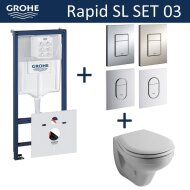 Grohe Rapid SL Toiletset set03 Sphinx Econ II met Grohe Arena of Skate drukplaat