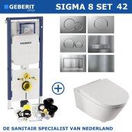 Geberit UP320 set15 B&W Zero Rim-ex met Sigma drukplaat