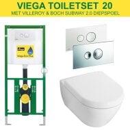 Viega EcoPlus Toiletset 20 V&B Subway 2.0 Diepspoel met Visign for Style 10 drukplaat
