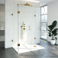 Douchecabine Compleet Just Creating Profielloos XL 90x140 cm Goud