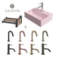 Salenzi Fonteinset Spy 40x30 cm Mat Roze (Keuze uit 8 kranen in 4 kleuren)