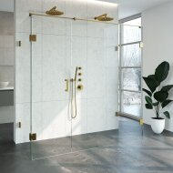 Douchecabine Compleet Just Creating Profielloos XL 80x200 cm Goud