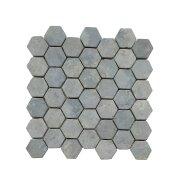Mozaiek Hexagon Grey Y 30x30 cm Marmer Licht Grijs (doosinhoud 1 m2)