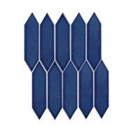 Mozaïek Paris 25.8x31.3 cm Verglaasd Porselein, Picket Glanzend Blauw (Prijs Per 0.81 m2)