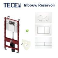 TECE Profile Inbouwreservoir Frontbediening 112x50x15 cm (keuze uit verschillende passende drukplaten)