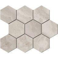 Hexagontegel Cristacer Tavertino Di Caracalla Silver 35.5x29.2 cm (Per m2)