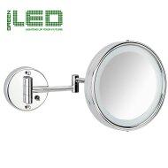 Scheerspiegel Basic Met LED verlichting En Schakelaar Ø19cm Wandmodel Zwenkbaar Chroom
