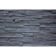 Steenpaneel Mongolian Black Noir Eck Splitface Stonepanel 60x15 cm (per stuk)