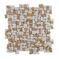 Mozaïek Random Small Mix Yucatan Brown/Cream Marmer 30x30 cm (Prijs per 1m²)