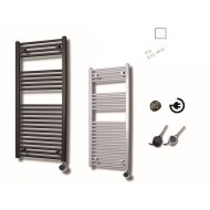 Elektrische Design Radiator Sanicare Plug En Play 111,8 x 60 cm Wit Thermostaat Chroom 730 Watt
