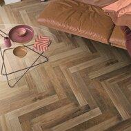 Vloertegel Mara Treverk Charme MM94 Visgraat Brown 10x70 cm (doosinhoud 1.19 m2)