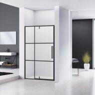 Nisdeur Van Rijn ST04 Aluminium Profiel 6 mm Helder Glas 120x200 cm Zwart Frame