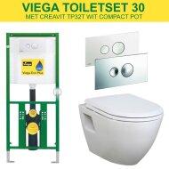 Viega EcoPlus Toiletset 30 / Creavit Compact 49.8cm / Visign for Style 10 drukplaat