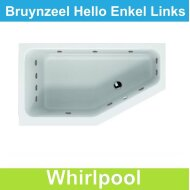 Whirlpool Bruynzeel Hello offset links 160 x 90 cm Enkel systeem | Tegeldepot.nl