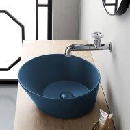Waskom By Goof Mees Design Opbouw Wastafel Rond 42 cm Mat Blauw