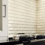 Wandtegel Metro 10x20 hoogglans creme (p/m2)