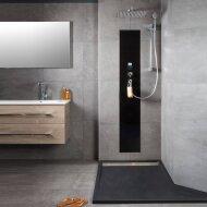 Waterbesparende Regendouche XenZ Upfall Excellent Tray 90x140x13.5 cm Thermostatisch Vierkant 30x30 cm Wit