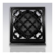 Deurrooster Weckx Retro Vierkant Aansluiting 10 cm Zwart