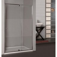 Douchedeur Allibert Priva 97-110x190 cm Geruite Glaswand Antikalk Chroom