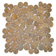 Mozaïek Coin Sunset Brown Marmer 30x30 cm (Prijs per 1m²)