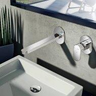 Wastafelmengkraan Hotbath Friendo 3+3 Inbouwsysteem 1-hendel Uitloop Recht 18 cm Chroom