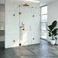 Douchecabine Compleet Just Creating Profielloos XL 80x120 cm Goud