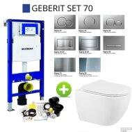 Geberit UP320 Set70 Sanindusa Sanibold Wandtoilet Rimless Softclose met Sigma Drukplaat Wit