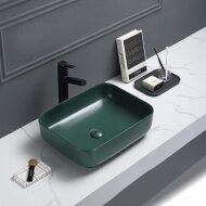 Waskom Sanilux Minerva Color Line 50x39x13 cm Inclusief Click Waste Mat Jade Groen