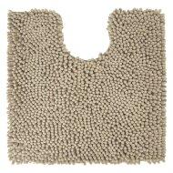 Toiletmat Differnz Chenille Shaggy Antislip 60x60 cm Microfiber Taupe