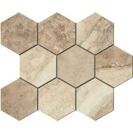 Hexagontegel Cristacer Tavertino Di Caracalla Beige 35.5x29.2 cm (Per m2)