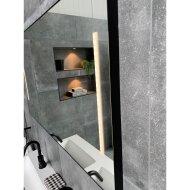 Badkamerspiegel Xenz Pacengo 140x70 cm Industrieel Zwart Frame met Verlichting en Spiegelverwarming