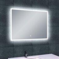 Spiegel Wiesbaden Quatro dimbare LED condensvrij 80x60x3.5cm