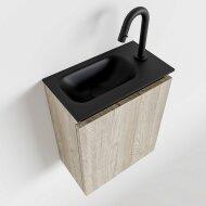 MONDIAZ TURE 40cm toiletmeubel light brown grey. EDEN wastafel urban links 1 kraangat