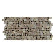Mozaiek Brick Mosaic Red Tumble Marmer 30x15cm (Prijs per 1m²)