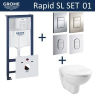 Grohe Rapid SL Toiletset set01 Basic Smart met Grohe Arena of Skate drukplaat