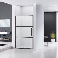 Nisdeur Van Rijn ST04 Aluminium Profiel 6 mm Helder Glas 140x200 cm Zwart Frame