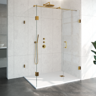 Douchecabine Compleet Just Creating Profielloos 3-Delig 100x140 cm Goud
