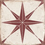 Vloertegel Orion Rood Ster 22,5 x 22,5 cm (doosinhoud: 1 m2)