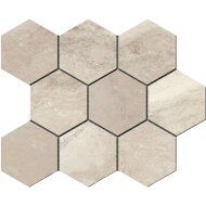 Hexagontegel Cristacer Tavertino Di Caracalla Blanco 35.5x29.2 cm (Per m2)