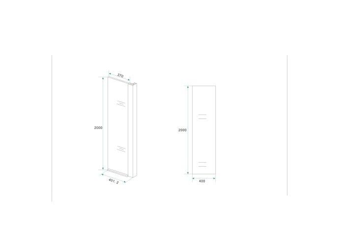 BWS Apollo Zijwand met Hoekprofiel 40x200cm 10mm NANO Coating
