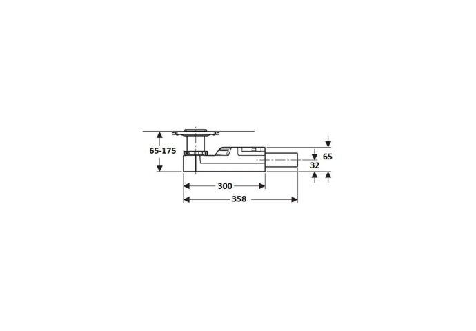 Doucheput Vloer Geberit Ruwbouwset 6.5-9 cm Waterslot 50 mm 154052001