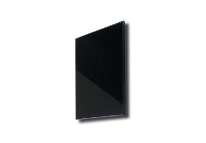Sunshower Ventilatierooster Vierkant 13x13 cm Zwart Glas (2 stuks)