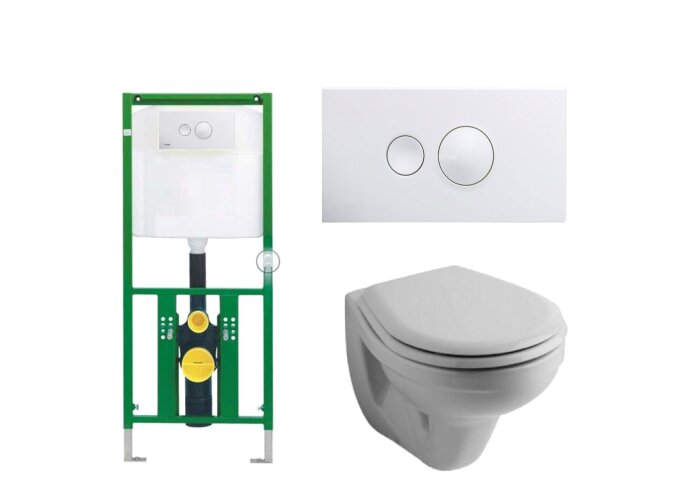Viega EcoPlus Toiletset 03 Sphinx Econ met Visign for Style 10 drukplaat