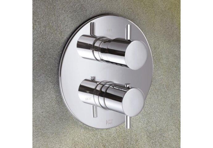 Inbouw Douchekraan Hotbath Laddy Thermostatisch 2-Weg Stop-Omstel Rond Chroom