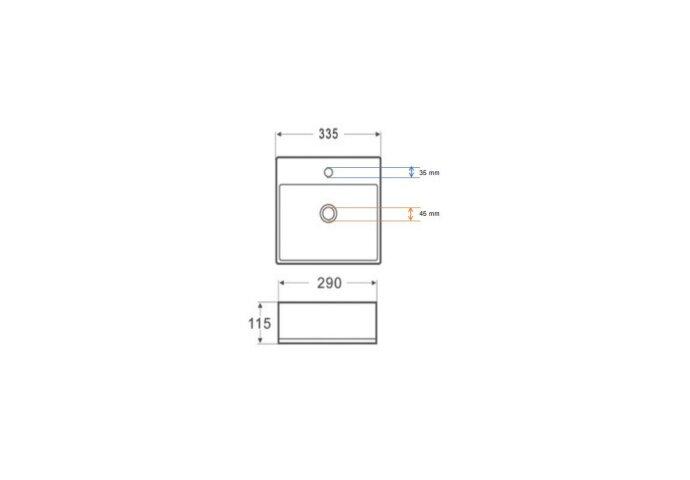 Fontein Wiesbaden Leto 33.5x29x11.5 cm Quartz