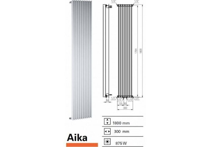 Designradiator Boss & Wessing Aika 1800 x 300 mm